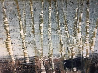 'Birch Forest'   21cm x 30cm